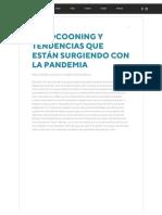EL COCOONING Y TENDENCIAS QUE ESTÁN SURGIENDO CON LA PANDEMIA