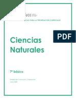 Ficha pedagógica Ciencias Naturales 7° Básico