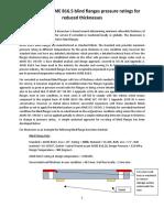 Establishing ASME B16.5 blind flanges pressure ratings for reduced flange thickness++++++++++
