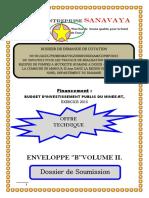 Dossier Technique finalisé pour soumission  Forage Commune de Maroua 2ème