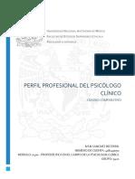 PERFIL PROFESIONAL DEL PSICÓLOGO CLÍNICO