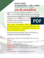 GUIA DOS REMÉDIOS DE DR. BACH- Renata