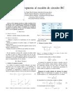 Practica N1 Respuesta al Escalón de un sistema RC