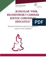 Anexo 5. Taller Escolar_Unir, Reconstruir y Caminar Juntos_Comunidad Educativa