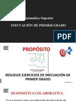 13.1 INECUACIONES DE PRIMER GRADO - copia