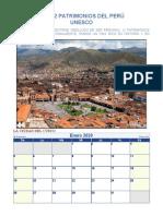 Calendario de 12 Patrimonios Nacionales