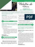 HOJA N° 33 - DOMINGO 15 DEL TIEMPO ORDINARIO - CICLO A