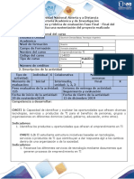 Guía de actividades y rúbrica de evaluación - Fase Final - Presentación final del proyecto