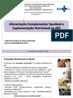 Alimentação Complementar e Suplementação na APS - 28.10