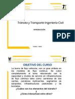 Tránsito y Transporte Ing. Civil clase 1. Introducción TTC