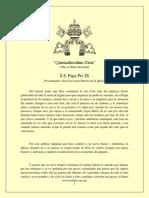 Quemadmodum Deus, Pio IX