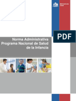 Norma Administrativa Programa Nacional de Salud de la Infancia. MINSAL Chile 2013.pdf