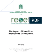 Impact of Peak Oil on International Development