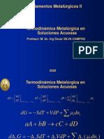 Lección II Termodinámica de Soluciones Acuosas 2020-I