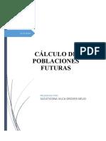 CÁLCULO DE POBLACIONES FUTURAS