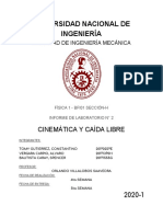 CINEMATICA Y CAIDA LIBRE