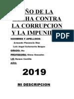 AÑO DE LA LUCHA CONTRA LA CORRUPCION Y LA IMPUNIDAD