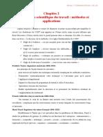 chapitre 2-l---organisation scientifique du tr
