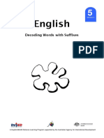 GRADE 5 English MODULE 4 - Decoding of words with suffixes