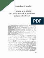Bonfil Batalla LO PROPIO Y LO AJENO.pdf