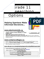 Grade 11 Researching Options Fall 2008