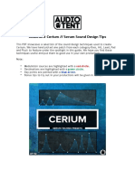 Audiotent+-+Cerium+-+Sound+Design+Tips