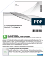 Cambridge Checkpoint English Past Papers
