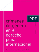 Crímenes de Género en el Derecho Penal Internacional