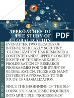 APPROACHES TO THE STUDY OF GLOBALIZATION