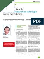 Recos dyslipidémies 2016