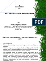 Water Pollution and the Law