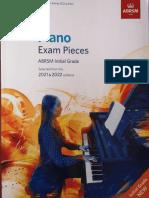Piano Pieces 2020 2021 Initial Grade ABRSM