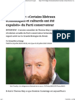 Nick Timothy_ «Certains libéraux économiques et culturels ont été expulsés» du Parti conservateur