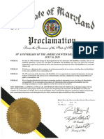 ADA Anniversary Proclamation Maryland