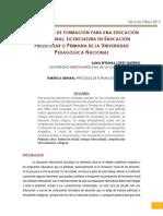 LOS PROCESOS DE FORMACIÓN PARA UNA EDUCACIÓN INTERCULTURAL