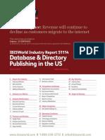 IBISWorld - Database & Directory Publishing in the US - 2019