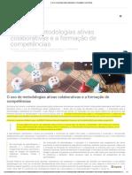 MEC. O uso de metodologias ativas colaborativas e a formação de competências