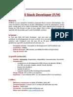 Offre Web Full Stack Developer DTWORKD_2020_002