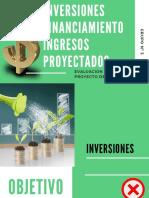 INVERSIONES FINANCIAMIENTO INGRESOS PROYECTADOS