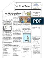 Parent Newsletter How the World Works