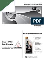 Manual de usuario CB 500X