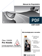 Manual de usuario CB 650R