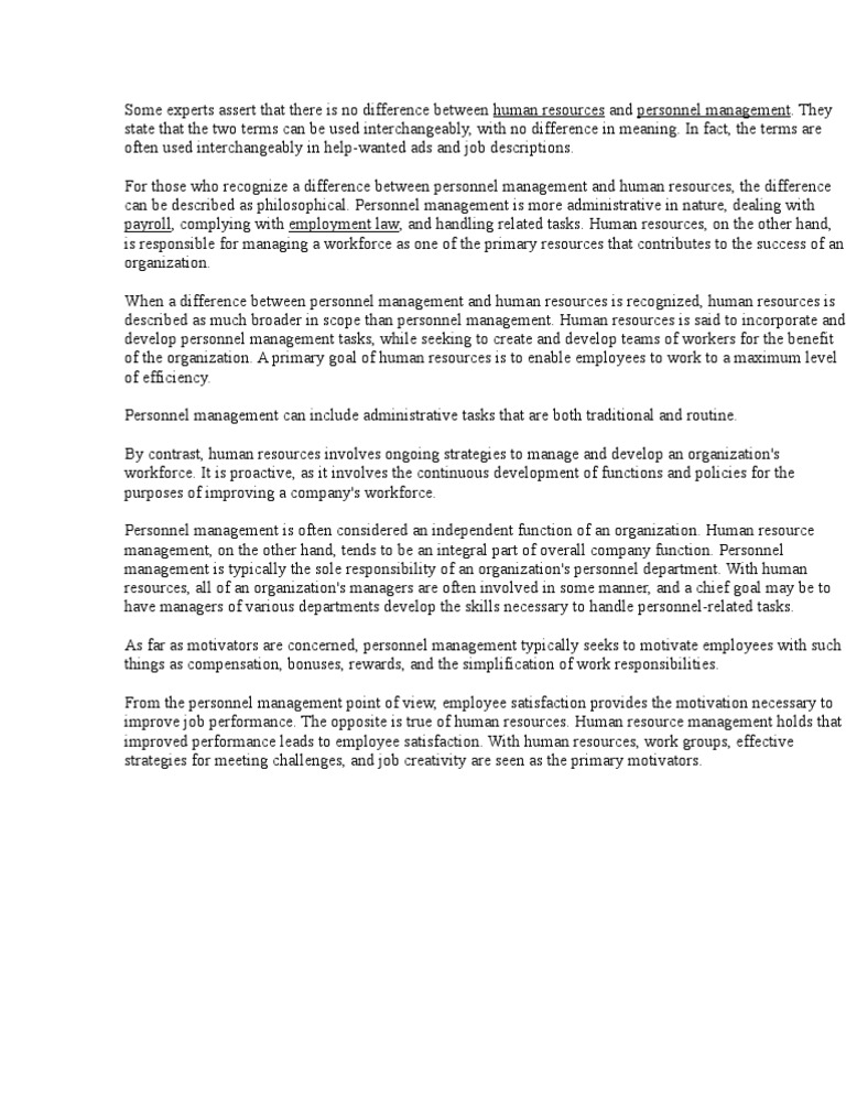 human resources essay writing
