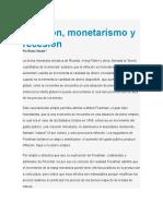 Inflación, Monetarismo y Recesión