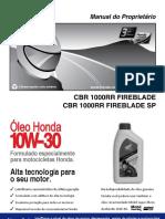 Manual de usuario CBR 1000 RR e SP