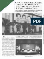 EL CICCA FUE ESCENARIO DEL SUPERTORNEO MUNDIAL DE AJEDREZ GRAN CANARIA 96