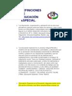 DEFINICIONES DE educacion especial