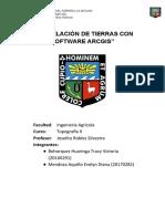 PARCELACIÓN DE TIERRAS INFORME