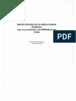 Breve Estudio de La Regla Conga Residual Del Palo Monte y Su Impronta en Cuba