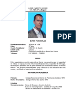 hoja de vida Jaime Cardona Osorio